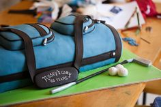 Golf bag cake for 60th birthday