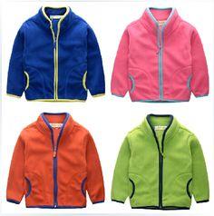Baby fleece jacket Autumn 2015 new children's clothing boys fleece coat solid color collar jackets for children