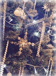 Glittery snowflake decoration