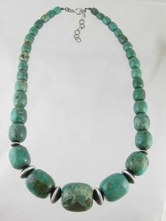 Emerald Valley Turquoise Bead Necklace - Adjustable Length