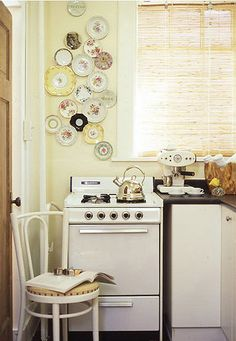 yellow pastel vintage kitchen
