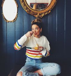 zoella❤️ Zoella Outfits, Cute Outfits, Retro Outfits, Zoella Style, Sugg Life, Zoe Sugg, Instagram Pose, Girl Online, Woman Crush
