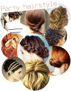 Inspiration for wedding day hair? I love the one with the hair bands.. so 'pride and prejudice' :)