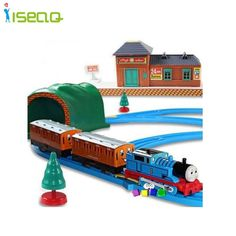 Brand Hot Wheels Thomas And Friends Electric Thomas Trains Set With Rail Toys For Children Boys Kids Toys Jugetes Para Ninos