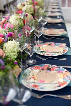 Floral birthday party table: http://www.stylemepretty.com/living/2014/10/27/from-invitation-to-celebration/ | Photography: PS Davis - http://www.psdavis.com/