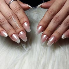 pearly baby boomer gel nails