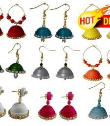 Black friday deals and offers mirraw Buy Navratri Special Combo of 9 handmade paper quilling earrings jhumka online Paper Quilling Earrings, Navratri Special, Thread Jewellery, Imitation Jewelry, Shopping Day, Wedding Jewelry Sets, Black Friday Deals, Silk Thread, Decorative Bells