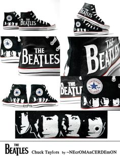 The Beatles Converse Beatles Band, Les Beatles, Ringo Starr, George Harrison, Paul Mccartney, John Lennon, Looks Style, My Style, Sons