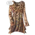 Leopard and Peacock Tunic - Women's Clothing & Symbolic Jewelry – Sexy, Fantasy, Romantic Fashions Unique Outfits, Cool Outfits, Animal Print Fashion, Animal Prints, Pyramid Collection, Bohemian Style, Boho Fashion, Style Inspiration, My Style