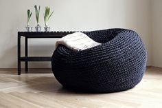 Giant Pouf Ottoman Extra Large Floor Cushion Bean Bag Chair Any individual can produce a house sweet property, even when the budget is tight. Modern Bean Bag Chairs, Modern Bean Bags, Oversized Floor Pillows, Large Floor Cushions, Oversized Chair, Knitted Pouffe, Crochet Pouf, Giant Bean Bag Chair, Tricot