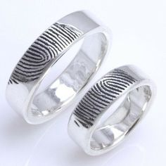 Fingerprint Ring - it would be so cute to hae our baby's fingerprint inside our rings... do dooo