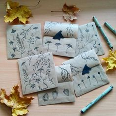I just love drawing these small envelopes I use for packaging etsy orders! ✉🌿 #drawing #micronpen #nature #naturedetails #botanical #illustration #instaillustration #packaging #packagingart #naturelover #natureforsoul #fox #revonvilla #etsyseller #etsypackaging #envelope #mail #autumn #fall #art #luonto #kettu #piirtäminen #kirje #posti #syksy #kuvitus
