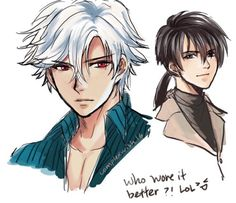 At Zen's route and Jumin said he would look better with white hair in the visual novel. I got curious haha….iPad color sketch