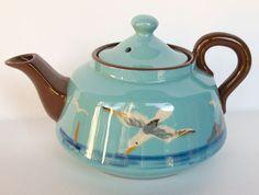 Royal Watcombe Torquay Pottery Seagull Design Teapot