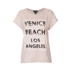 TOPSHOP Venice Beach Burnout Tee (65 BRL) ❤ liked on Polyvore featuring tops, t-shirts, shirts, tees, topshop, pink, rolled up sleeves t shirt, roll sleeve t shirt, pink t shirt and burnout t shirt