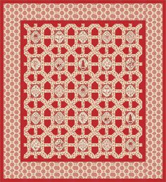 Joyeux Noel quilt pattern made with French General's fabric line Joyeux Noel for Moda Fabric. To be released 2015.