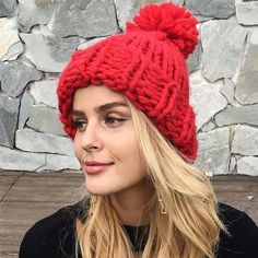 a43ce4fb Knitted Hat Cute Beanies, Knitting Wool, Winter Beanies, Winter Hats, Wool  Hats