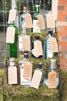 Fab DIY Idea – Gin Bottles As Vases