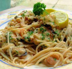 Shrimp & Spaghetti Gratin