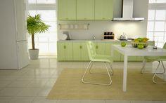24 Fotos de cozinhas para quem adora verde