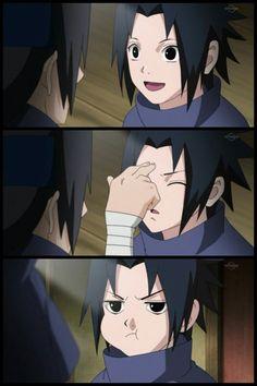 Sasuke ,je n'aime pas Quand Tu fais cet face là en La fin ...C'est ton frere Itachi
