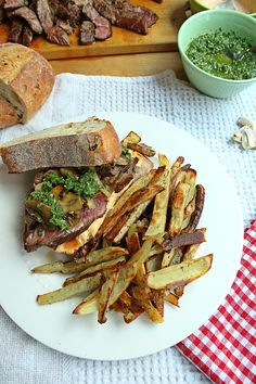 A steak sandwich is the ultimate in lunchtime comfort food. We take ours to the next level with chimichurri sauce and sriracha mayo. Make this recipe to celebrate Father's Day, or any time you're craving steak for lunch or supper. Lamb Sandwich, Grilled Sandwich Recipe, Healthy Soup Recipes, Beef Recipes, Cooking Courses, Lunch Menu, Easy Family Meals, Food Allergies, Chimichurri