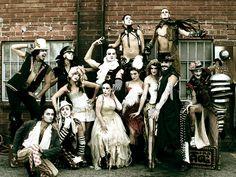 Lucent Dossier - Vaudeville Circus Troupe. Vogue magazine.