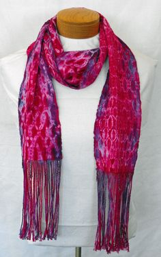 Hand Woven Scarf Shibori Cotton Scarf Hand Painted by WovenBeauty,