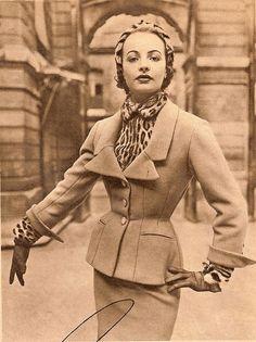 more leopard more better. Vintage 1950's Suit
