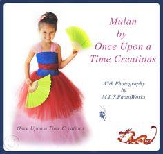 Mulan Inspired Princess Tutu Dress - Birthday Outfit, Photo Prop, Halloween Costume - 12M 2T 3T 4T 5T - Disney Mulan Inspired. $59.99, via Etsy.