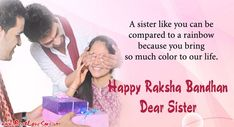 Beautiful Rakhi Brother And Sister Images With Wishes Rakhi Wishes For Brother, Wishes For Sister, Love My Sister, Dear Sister, Rakhi Greetings, Happy Raksha Bandhan Images, Happy Rakhi, Sisters Images, Sister Pictures