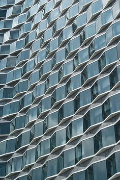 """""""Waves"""" - photo by Mike, via Flickr;  """"Waves of glass. Tour Mirabeau, in Paris, France, which is home of the UN Environmental Program Division of Technology, Industry, and Economics Production & Consumption Branch"""""""
