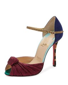 Marchavekel Mixed-Media d\'Orsay Red Sole Pump, Multi by Christian Louboutin at Bergdorf Goodman.