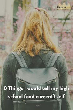 6 things I wish I knew in high school and why they are still applicable today My High School, I Wish I Knew, Herschel Heritage Backpack, School Stuff, Self, Christian, Queen, Group, Blog