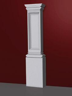Pilars pilares on pinterest columns porch columns and - Decorazioni pilastri interni ...