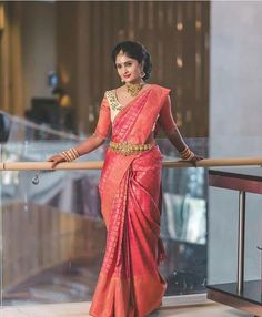 Top 40 Elegant Bridal Pattu Sarees That We Can't Stop Loving South Indian Wedding Saree, Indian Bridal Sarees, Wedding Silk Saree, Indian Bridal Fashion, Indian Weddings, Pattu Saree Blouse Designs, Bridal Blouse Designs, Pattu Sarees Wedding, Silk Sarees