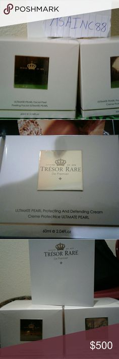 Tresor Rare Ultimate Pearl Facial Peel/Protection A definitive facial peeling gel which assists brightening, cleansing, detoxifying and conditioning the skin, generating a softer, fresher and brighter looking complexion. This mild formula includes a unique combination of ingredients to methodically and comfortably eliminate dead skin cells, surplus oil and residues hence leaving the skin feeling smooth and soft, resulting to a new healthy glow. Makeup