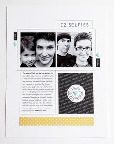 STORY OF THE PAGE: When I got my first digital SLR camera back in 2004, I took a selfie with my then five-year-old shadow. Seventeen years later, he granted me a new one. I love scrapbooking spans …