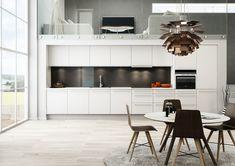 System er en robust kjøkkenmodell i høytrykkslaminat som tåler både slag, støt og vask.