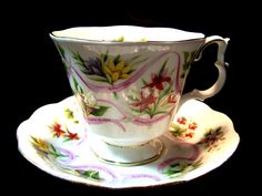 Royal Albert  Canadian Emblems Series Cup and Saucer.