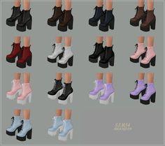 Chunky Combat Boots_청키 워커힐_여자 신발 | SIMS4 marigold