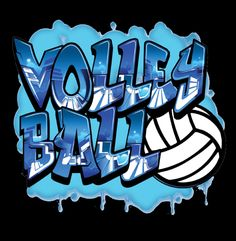 Graffiti - Volleyball T-shirt by VictorySportsGraphics