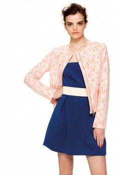 Dalla collezione primavera estate 2014 di abbigliamento Kocca, minidress e giacca.