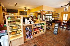 In side the bread basket bakery...