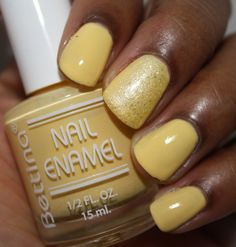 """The Beauty Buffs: Yellow. This is Bettina """"Sunkissed""""."""