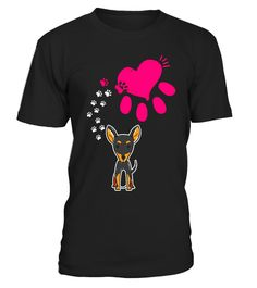 "# Pinscher Footprints to Heart Shirt. Miniature Pinscher Gifts .  Special Offer, not available in shops      Comes in a variety of styles and colours      Buy yours now before it is too late!      Secured payment via Visa / Mastercard / Amex / PayPal      How to place an order            Choose the model from the drop-down menu      Click on ""Buy it now""      Choose the size and the quantity      Add your delivery address and bank details      And that's it!      Tags: Pinscher shirts…"