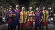 バルサが新ユニフォームを発表、アウェイは黄色と赤のストライプ – サッカーキング