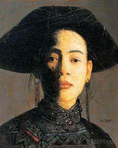 Luo Zhongli (罗中立; b1948, Chongqing, South West China)