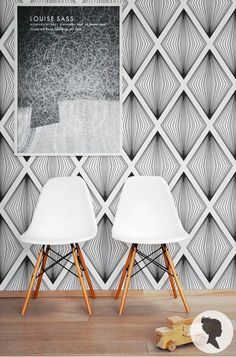 Diamond Pattern Wallpaper Self Adhesive or Regular by Livettes