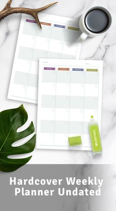 Hardcover Weekly Planner Undated template can increase your chances of staying productive all day every day. Here are the best planner templates available online. It's also available as a digital version (PDF). #weekly #planner #daily #planners #monthly